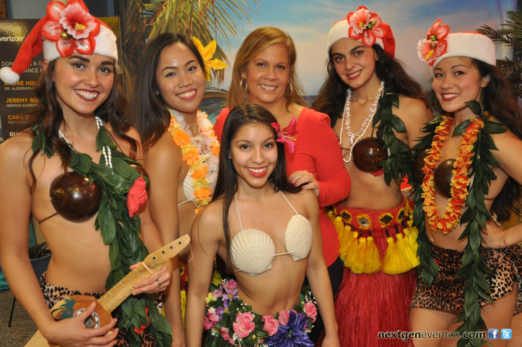 Hawaiian luau party photography + photo booth