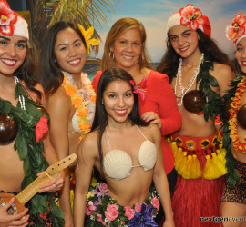 Hawaiian luau party photography + photo booth